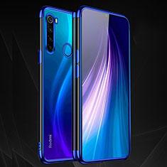 Coque Ultra Fine TPU Souple Housse Etui Transparente H03 pour Xiaomi Redmi Note 8T Bleu