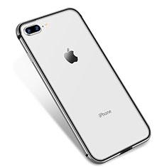 Coque Ultra Fine TPU Souple Housse Etui Transparente H04 pour Apple iPhone 7 Plus Argent
