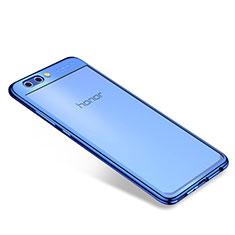 Coque Ultra Fine TPU Souple Housse Etui Transparente H04 pour Huawei Honor V10 Bleu