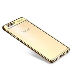 Coque Ultra Fine TPU Souple Housse Etui Transparente H04 pour Huawei Honor V10 Or