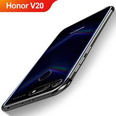 Coque Ultra Fine TPU Souple Housse Etui Transparente H04 pour Huawei Honor V20 Noir