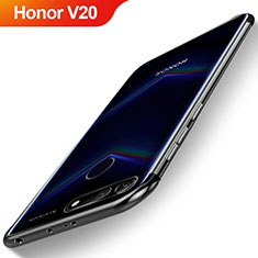 Coque Ultra Fine TPU Souple Housse Etui Transparente H04 pour Huawei Honor View 20 Noir