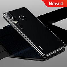 Coque Ultra Fine TPU Souple Housse Etui Transparente H04 pour Huawei Nova 4 Noir