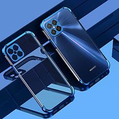 Coque Ultra Fine TPU Souple Housse Etui Transparente H04 pour Huawei Nova 8 SE 5G Bleu