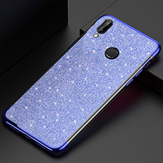 Coque Ultra Fine TPU Souple Housse Etui Transparente H04 pour Huawei P20 Lite Bleu