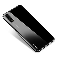 Coque Ultra Fine TPU Souple Housse Etui Transparente H04 pour Huawei P20 Noir
