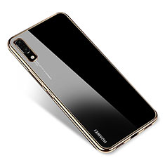 Coque Ultra Fine TPU Souple Housse Etui Transparente H04 pour Huawei P20 Or