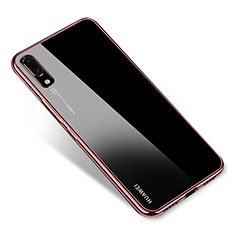 Coque Ultra Fine TPU Souple Housse Etui Transparente H04 pour Huawei P20 Or Rose