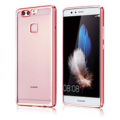Coque Ultra Fine TPU Souple Housse Etui Transparente H04 pour Huawei P9 Or Rose