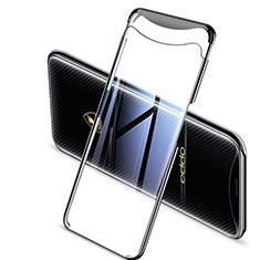 Coque Ultra Fine TPU Souple Housse Etui Transparente H04 pour Oppo Find X Noir
