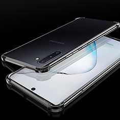Coque Ultra Fine TPU Souple Housse Etui Transparente H04 pour Samsung Galaxy Note 10 Plus Noir