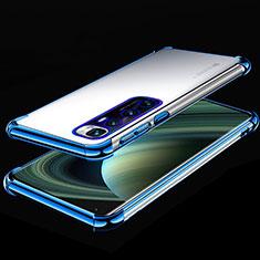 Coque Ultra Fine TPU Souple Housse Etui Transparente H04 pour Xiaomi Mi 10 Ultra Bleu