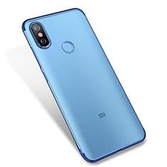 Coque Ultra Fine TPU Souple Housse Etui Transparente H04 pour Xiaomi Mi A2 Bleu