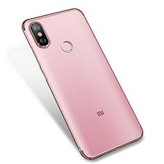 Coque Ultra Fine TPU Souple Housse Etui Transparente H04 pour Xiaomi Mi A2 Rose