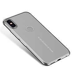 Coque Ultra Fine TPU Souple Housse Etui Transparente H04 pour Xiaomi Mi Mix 2S Argent