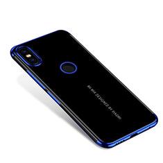 Coque Ultra Fine TPU Souple Housse Etui Transparente H04 pour Xiaomi Mi Mix 2S Bleu