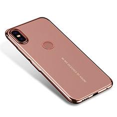 Coque Ultra Fine TPU Souple Housse Etui Transparente H04 pour Xiaomi Mi Mix 2S Or Rose