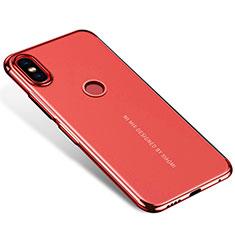 Coque Ultra Fine TPU Souple Housse Etui Transparente H04 pour Xiaomi Mi Mix 2S Rouge
