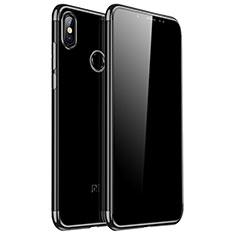 Coque Ultra Fine TPU Souple Housse Etui Transparente H04 pour Xiaomi Redmi Note 5 AI Dual Camera Noir
