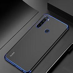 Coque Ultra Fine TPU Souple Housse Etui Transparente H04 pour Xiaomi Redmi Note 8 Bleu