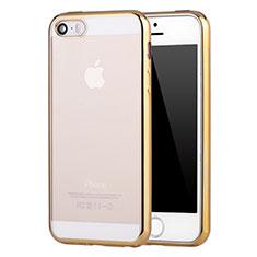 Coque Ultra Fine TPU Souple Housse Etui Transparente H05 pour Apple iPhone SE Or