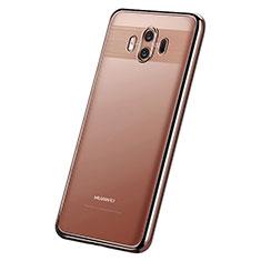 Coque Ultra Fine TPU Souple Housse Etui Transparente H05 pour Huawei Mate 10 Or Rose