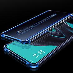 Coque Ultra Fine TPU Souple Housse Etui Transparente H05 pour Oppo Reno2 Bleu
