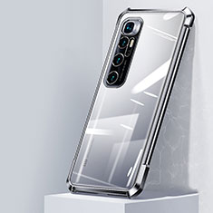 Coque Ultra Fine TPU Souple Housse Etui Transparente H05 pour Xiaomi Mi 10 Ultra Argent