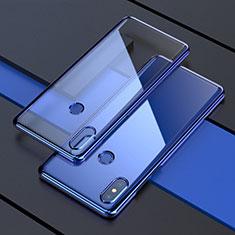 Coque Ultra Fine TPU Souple Housse Etui Transparente H05 pour Xiaomi Mi Mix 3 Bleu