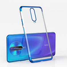 Coque Ultra Fine TPU Souple Housse Etui Transparente H05 pour Xiaomi Redmi K30 4G Bleu