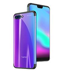 Coque Ultra Fine TPU Souple Housse Etui Transparente H06 pour Huawei Honor 10 Noir