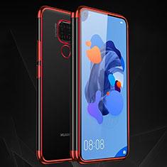Coque Ultra Fine TPU Souple Housse Etui Transparente H06 pour Huawei Mate 30 Lite Rouge