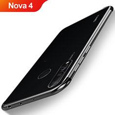 Coque Ultra Fine TPU Souple Housse Etui Transparente H06 pour Huawei Nova 4 Noir