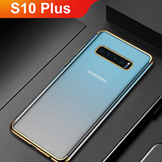 Coque Ultra Fine TPU Souple Housse Etui Transparente H06 pour Samsung Galaxy S10 Plus Or