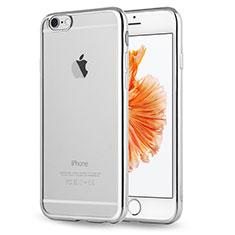 Coque Ultra Fine TPU Souple Housse Etui Transparente H17 pour Apple iPhone 6S Argent