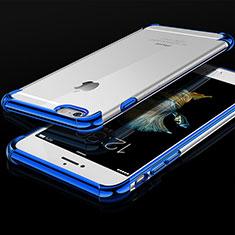 Coque Ultra Fine TPU Souple Housse Etui Transparente HC01 pour Apple iPhone 6 Bleu