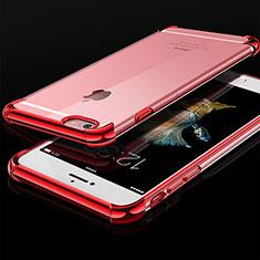 Coque Ultra Fine TPU Souple Housse Etui Transparente HC01 pour Apple iPhone 6 Rouge