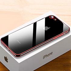 Coque Ultra Fine TPU Souple Housse Etui Transparente HC02 pour Apple iPhone 7 Plus Rouge