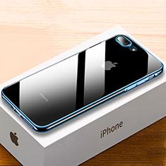 Coque Ultra Fine TPU Souple Housse Etui Transparente HC02 pour Apple iPhone 8 Plus Bleu