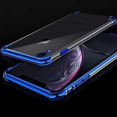 Coque Ultra Fine TPU Souple Housse Etui Transparente HC07 pour Apple iPhone XR Bleu
