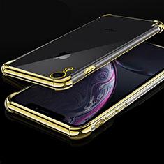 Coque Ultra Fine TPU Souple Housse Etui Transparente HC07 pour Apple iPhone XR Or