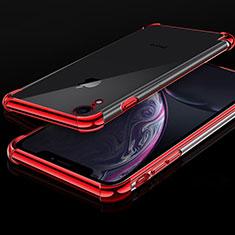 Coque Ultra Fine TPU Souple Housse Etui Transparente HC07 pour Apple iPhone XR Rouge
