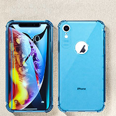 Coque Ultra Fine TPU Souple Housse Etui Transparente HC08 pour Apple iPhone XR Bleu Ciel