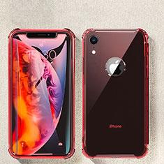 Coque Ultra Fine TPU Souple Housse Etui Transparente HC08 pour Apple iPhone XR Rouge