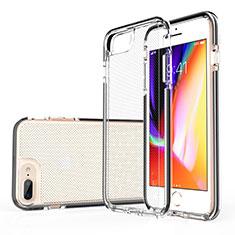 Coque Ultra Fine TPU Souple Housse Etui Transparente HT01 pour Apple iPhone 8 Plus Noir
