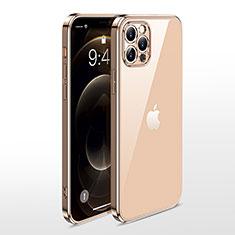 Coque Ultra Fine TPU Souple Housse Etui Transparente N01 pour Apple iPhone 12 Pro Max Or
