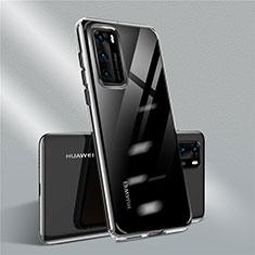 Coque Ultra Fine TPU Souple Housse Etui Transparente N01 pour Huawei P40 Noir