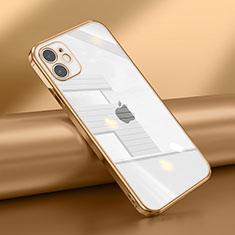 Coque Ultra Fine TPU Souple Housse Etui Transparente N02 pour Apple iPhone 12 Mini Or