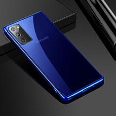 Coque Ultra Fine TPU Souple Housse Etui Transparente N03 pour Samsung Galaxy Note 20 5G Bleu
