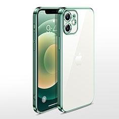 Coque Ultra Fine TPU Souple Housse Etui Transparente N04 pour Apple iPhone 12 Mini Vert
